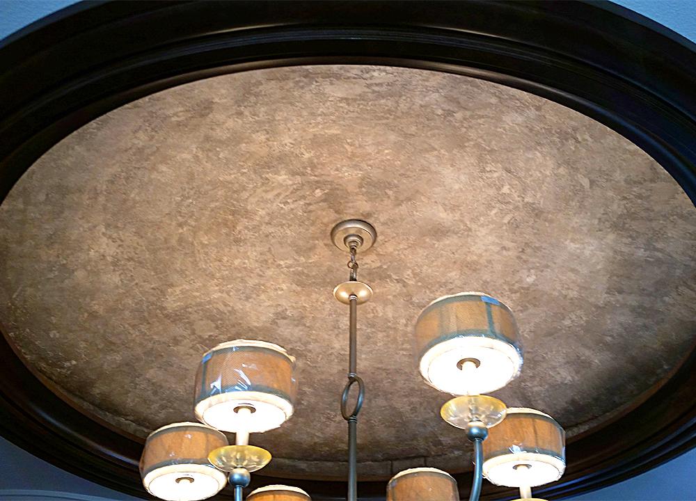Glaze finish on ceiling