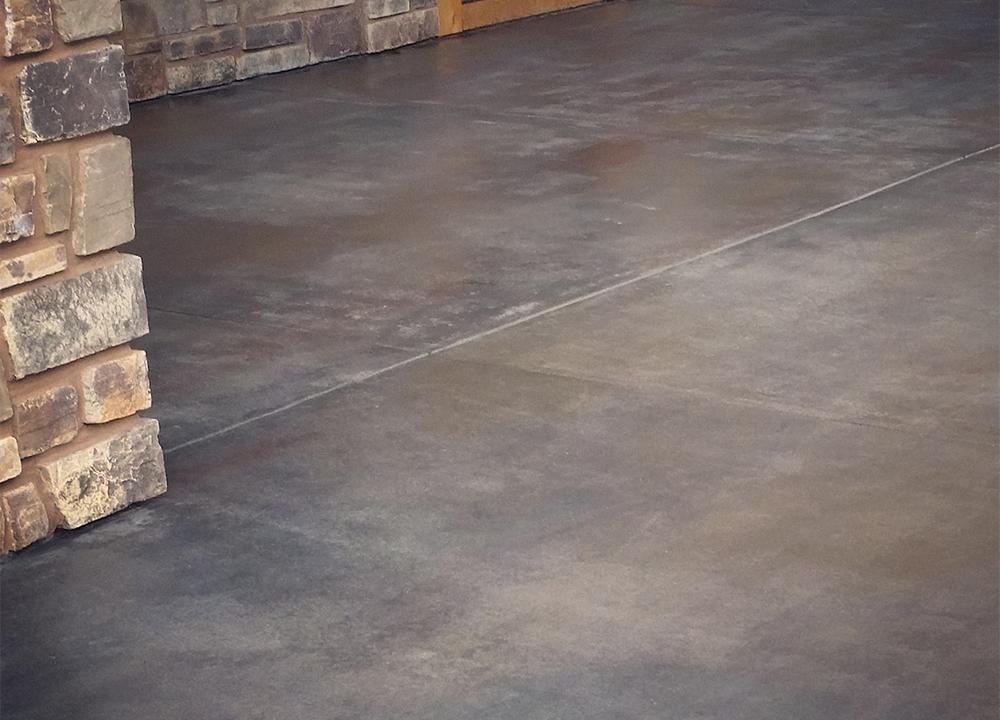 concrete skimstone exterior patio floor