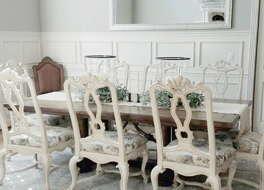 refinished dining chairs